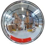 Raumspiegel -INDOOR- aus Acrylglas, rund (Ma&szlig;e (&Oslash;xT)/max. Beobachterabstand: &Oslash; 450 x 100 mm/ <b>4 m</b> (Art.Nr.: 25792))