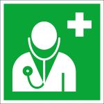 Rettungsschild Arzt (Material: Kunststoff<br>witterungsbest&auml;ndig (Art.Nr.: 21.a3060))