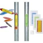 Rohrleitungskennzeichnungs-Etiketten, Gruppe 5, Nichtbrennbare Gase, nach DIN 2403
