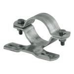 Rohrschelle, feuerverzinkt, Ø 60 oder 76 mm, verschiedene Lochabstände (Maße Ø/Lochabstand: Ø 60mm/70mm (Art.Nr.: 90.2789))