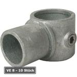 Rohrverbinder -Drehst&uuml;ck-, VE 8 - 10 St&uuml;ck, aus Temperguss, T&Uuml;V-gepr&uuml;ft (f&uuml;r Rohr-Durchmesser/Verpackungseinheit (VE):  <b>48,3 mm</b> (VE 8 Stk.) (Art.Nr.: 31684))