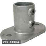 Rohrverbinder -Fu&szlig;platte oval-, VE 5 - 10 St&uuml;ck, aus Temperguss, T&Uuml;V-gepr&uuml;ft (f&uuml;r Rohr-Durchmesser/Verpackungseinheit (VE):  <b>26,9 mm</b> (VE 10 Stk.) (Art.Nr.: 31659))