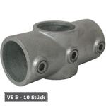 Rohrverbinder -Kreuzst&uuml;ck-, VE 5 - 10 St&uuml;ck, aus Temperguss, T&Uuml;V-gepr&uuml;ft (f&uuml;r Rohr-Durchmesser/Verpackungseinheit (VE):  <b>26,9 mm</b> (VE 10 Stk.) (Art.Nr.: 31638))