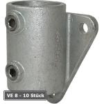 Rohrverbinder -Wandbefestigung-, VE 8 - 10 St&uuml;ck, aus Temperguss, T&Uuml;V-gepr&uuml;ft (f&uuml;r Rohr-Durchmesser/Verpackungseinheit (VE):  <b>48,3 mm</b> (VE 8 Stk.) (Art.Nr.: 31681))