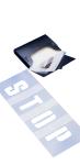 Schablonensatz -PROline-paint-, für Buchstaben und Ziffern (Zeichenhöhe: 15cm (Art.Nr.: 11586))