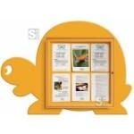 Schaukasten -Kids- Schildkröte, 1397 x 1000 mm, Bautiefe 30 mm, Nutzinnentiefe 15,5 mm (Farbe: RAL 6018 gelbgrün (Art.Nr.: 23426))