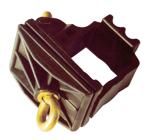 Schilderhalter aus Kunststoff, für Vierkantrohr 40 x 40 mm und Rundrohr Ø 42 mm