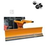 Schneepflug -S2073- aus Stahl f&uuml;r Gabelstapler, R&auml;umschildbreite 1500 - 2400 mm (Schildbreite/Kantenmaterial/R&auml;umbreite/Gabelquerschnitt/Gewicht:  <b>1500mm</b> mit Sch&uuml;rfleiste aus Stahl<br>1100-1500mm/150x50mm/195kg (Art.Nr.: 29380))