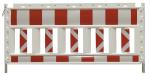 Schrankenzaun -Cordon Profi-, rot / weiß (Länge/Weisung: 2,00m/rechtsweisend (Art.Nr.: 33320ksbr))