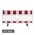 Schrankenzaun -VarioFix-, rot / wei&szlig;, mit drehbaren Standf&uuml;&szlig;en, Verpackungseinheit (VE) 2 St&uuml;ck (Folienbreite/L&auml;nge:  <b>1600mm/1700mm</b> (Art.Nr.: 33022))