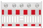 Schrankenzaun -Vario LED-, Länge 2130 mm, mit 5 integrierten LED-Warnleuchten