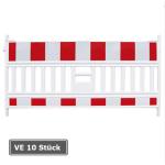 Schrankenzaun -Vario- ohne Leuchtstutzen, Länge 2010 mm, rot / weiß, Folienbreite 2 m, Verpackungseinheit (VE) 10 Stück