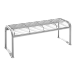 Sitzbank -Dita- ohne Rückenlehne, aus Stahl, Sitzfläche aus Gitternetz, mobil