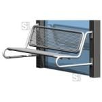 Sitzbank -Ercole- mit Rückenlehne, aus Stahl, für Wetterschutzeinrichtungen, zum Anschrauben (Farbe: RAL3003 rubinrot (Art.Nr.: 20921))