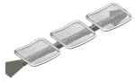 Sitzbank -Face- für Wetterschutzeinrichtungen, Stahl, Sitzfläche aus Drahtgitter, zum Anschrauben (Farbe: RAL6009 tannengrün (Art.Nr.: 23819))