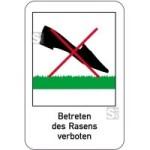 Sonderschild, Betreten des Rasens verboten, 400 x 600 mm