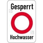 Sonderschild, Gesperrt, Hochwasser (Breite x Höhe: 500 x 750 mm (Art.Nr.: 15010))
