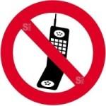 Sonderschild, Handy benutzen verboten, wahlweise in Ø 420 und Ø 600 mm (Maße: Ø 420 mm (Art.Nr.: 14945))