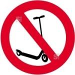 Sonderschild, Kickboard fahren verboten, wahlweise in Ø 420 und Ø 600 mm (Maße: Ø 420 mm (Art.Nr.: 14953))