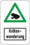 Sonderschild, Krötenwanderung, 400 x 600 mm