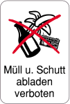 Sonderschild, Müll u. Schutt abladen verboten, 400 x 600 mm
