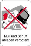 Sonderschild, Müll und Schutt abladen verboten!, 400 x 600 mm