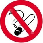 Sonderschild, Rauchen verboten, wahlweise Ø 420 und Ø 600 mm (Maße: Ø 420 mm (Art.Nr.: 14933))