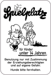 Sonderschild, Spielplatz für Kinder unter 14 Jahren, 400 x 600 mm