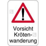 Sonderschild, Vorsicht Krötenwanderung, 400 x 600 mm