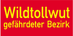 Sonderschild, Wildtollwut, gefährdeter Bezirk, 400 x 200 mm
