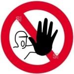 Sonderschild, Zutritt für unbefugte verboten, wahlweise in Ø 420 und Ø 600 mm (Maße: Ø 420 mm (Art.Nr.: 14941))