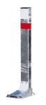 Sperrpfosten -Flexy- flexibel (Höhe über Flur/Schließung: 600mm/vorgerüstet für Profilzylinder (Art.Nr.: 13597))