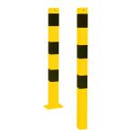 Stahlrohrpoller / Rammschutzpoller -Bollard- 70 x 70 mm, zum Einbetonieren oder Aufdübeln