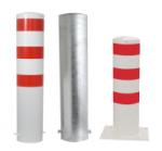 Stahlrohrpoller / Rammschutzpoller -Bollard- Ø 273 mm aus Stahl, feststehend, wahlweise rot / weiß