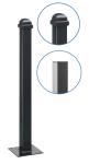 Stilpfosten aus Aluminium, 70 x 70 mm, wahlweise mit Helmkopf oder Flachkopf