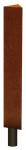 Stilpoller -Acero- 132 x 132 x 132 mm aus Cortenstahl, zum Einbetonieren oder Aufd&uuml;beln, herausnehmbar o. feststehend (Befestigung/Schlie&szlig;ung: zum Aufd&uuml;beln mit Bodenplatte<br>feststehend, ohne Verriegelung (Art.Nr.: 25888))