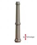 Stilpoller -Aulis- Ø 74 mm aus Aluguss, zum Einbetonieren, feststehend oder herausnehmbar mit 3p-Technologie (Sollbruchstelle)