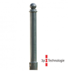 Stilpoller -Eris- Ø 80 mm aus Aluguss, zum Einbetonieren, feststehend oder herausnehmbar mit 3p-Technologie (Sollbruchstelle)