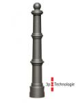 Stilpoller -Hylas- Ø 80 mm aus Aluguss, zum Einbetonieren, feststehend oder herausnehmbar mit 3p-Technologie (Sollbruchstelle)