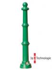 Stilpoller -Ladon- Ø 70 mm aus Aluguss, zum Einbetonieren, feststehend oder herausnehmbar mit 3p-Technologie (Sollbruchstelle)