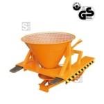 Streugerät -S2074- aus Stahl für Gabelstapler, mit Schutzgitter, Streubreite bis 9 m, 265 Liter (Farbe: orange lackiert (Art.Nr.: 29384))