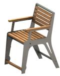 Stuhl -Comfort- mit Gasdruckfeder, speziell für Senioren, aus Stahl und Robinien-Holz, Mobil (Farbe Gestell: RAL7032 kieselgrau (Art.Nr.: 23335))