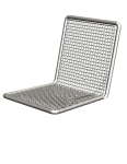 Stuhl -Priority- mit Stahlrückenlehne, Sitz- u. Rückenfl. aus Drahtgitter, Sockel- o. Wandbefest.