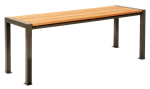 Tisch -Lumino-, Abstellfläche aus Robinien-Holz (Farbe: RAL7022 umbragrau (Art.Nr.: 21019))