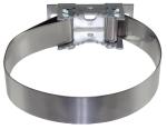 Universalbandschelle zur Befestigung von Schildern, passend für alle Pfosten von Ø 48 bis 300 mm