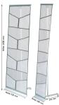 Variabler Infoständer -MOSQUITO- mit Transporttasche (Breite/Fächer: 280mm/für 4x DIN A4 (Art.Nr.: 11973))