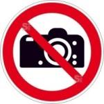 Verbotsschild, Fotografieren verboten (Maße Ø/Material : 100mm/Folie,selbstklebend (Art.Nr.: 21.a6215))