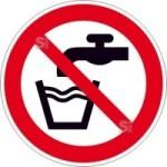 Verbotsschild, Kein Trinkwasser (Maße(Ø)/Material: 100mm/Folie,selbstklebend (Art.Nr.: 21.a6055))