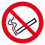 Verbotsschild, Rauchen verboten (Maße(Ø)/Material: 100mm/Folie,selbstklebend,nicht langnachl. (Art.Nr.: 21.a6010))