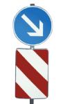 Verkehrsleitsäule, konvexe Form (hinten offen), Alform (Ausführung: rechtsweisend, Folie Typ 2 (Art.Nr.: 34934))
